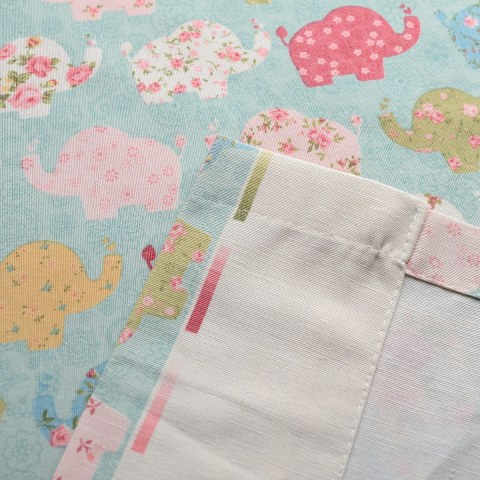 Baby Elephant Pink and Blue Roman Blind 7