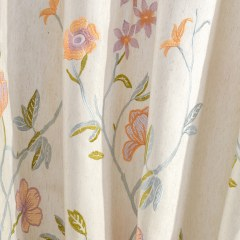 Fragrance Blue Branch Embroidered Curtain 4