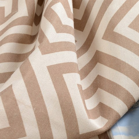 Greek Key Light Brown Curtain 7