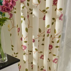 Floral Journey Pink Embroidered Curtain 6