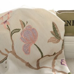 Fragrance Brown Branch Embroidered Curtain 6