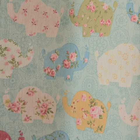 Baby Elephant Pink and Blue Curtain 4