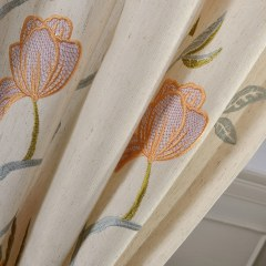 Fragrance Blue Branch Embroidered Curtain 5