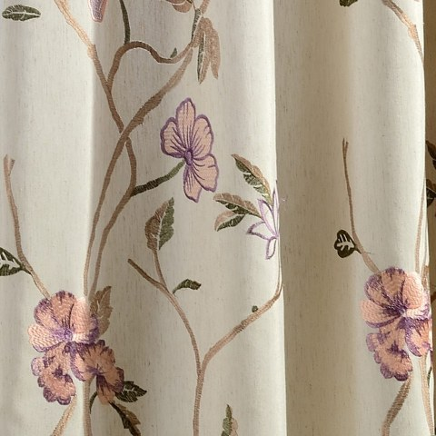Fragrance Brown Branch Embroidered Curtain 2