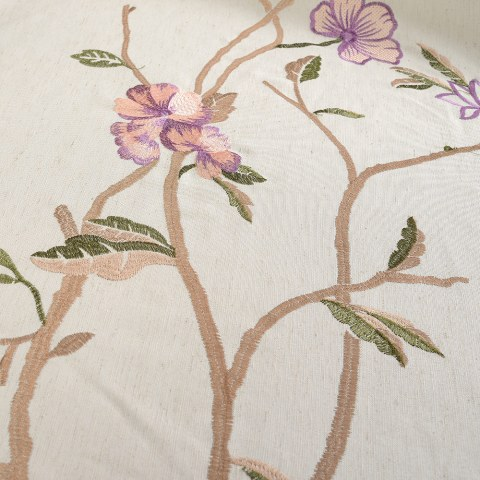 Fragrance Brown Branch Embroidered Curtain 5