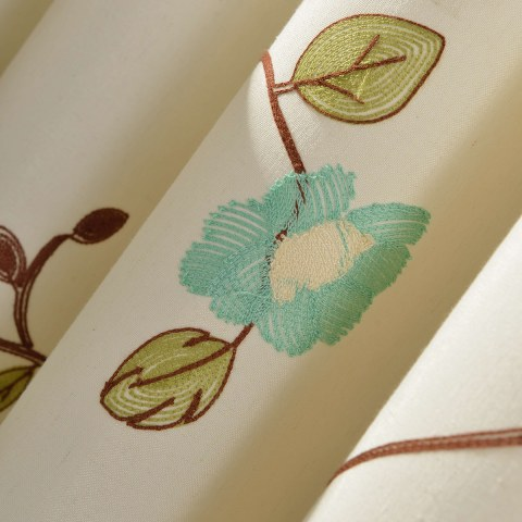 Floral Journey Sage Green Embroidered Roman Blind 1