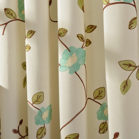 Floral Journey Sage Green Embroidered Curtain 2