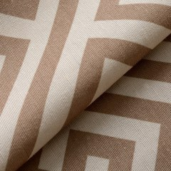 Greek Key Light Brown Curtain 5