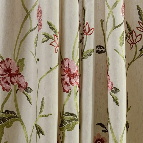 Fragrance Green Branch Embroidered Curtain 2