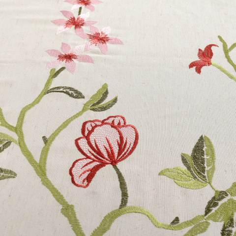 Fragrance Green Branch Embroidered Curtain 4