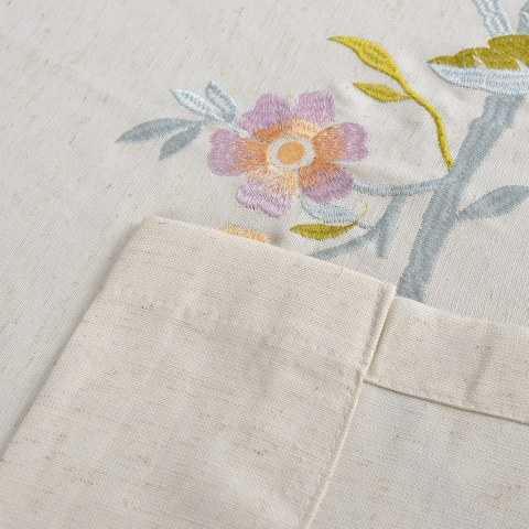 Fragrance Blue Branch Embroidered Curtain 8