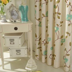 Floral Journey Sage Green Embroidered Curtain 7