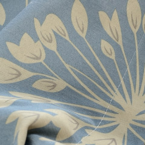 Breeze Powder Blue Floral Curtain 4