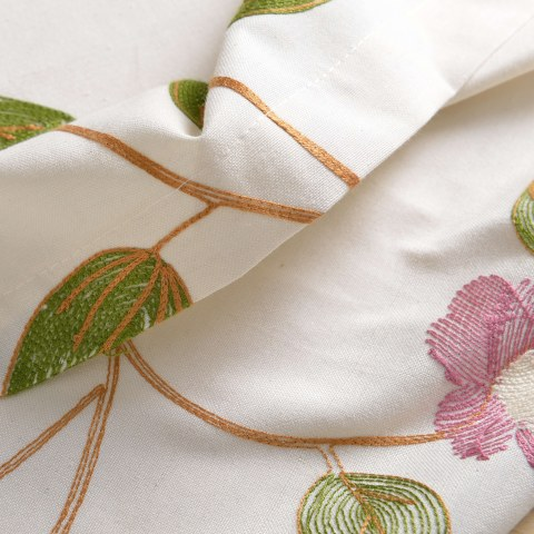 Floral Journey Pink Embroidered Roman Blind 4