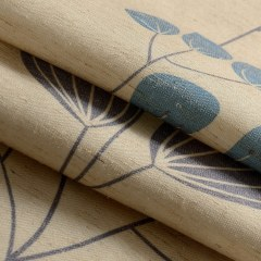 Block Leaf Floral Cream Roman Blind 2