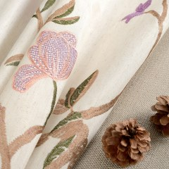 Fragrance Brown Branch Embroidered Curtain 4