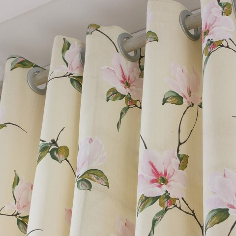 Morning Flower Boutique Cream Curtain 2