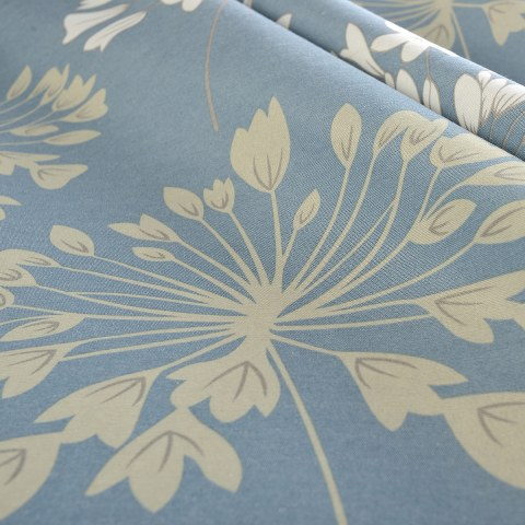 Breeze Powder Blue Floral Curtain 5