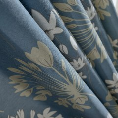 Breeze Powder Blue Floral Curtain 6
