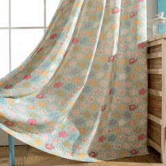 Baby Elephant Pink and Blue Curtain 2