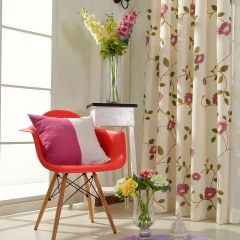 Floral Journey Pink Embroidered Curtain 8