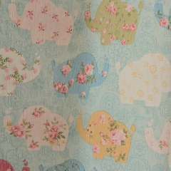 Baby Elephant Pink and Blue Roman Blind 6