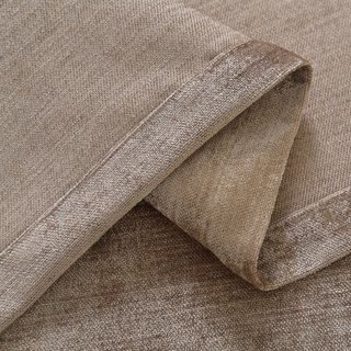 Luxury Light Brown Chenille Curtain 7