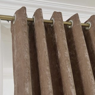Luxury Light Brown Chenille Curtain 4