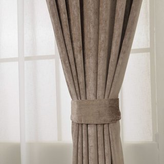 Luxury Light Brown Chenille Curtain 3