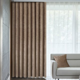 Luxury Light Brown Chenille Curtain 2