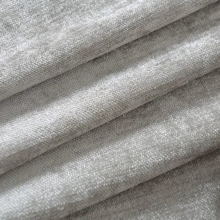Luxury Silver Grey Colour Chenille Roman Blind 2
