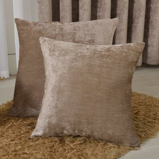 Luxury Light Brown Chenille Curtain 8