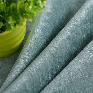 Luxury Duck Egg Sage Green Chenille Curtain 9