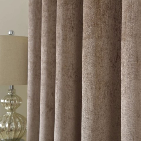 Luxury Light Brown Chenille Curtain 5