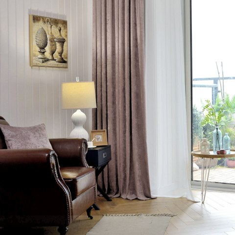 Luxury Mocha Chenille Curtain 2