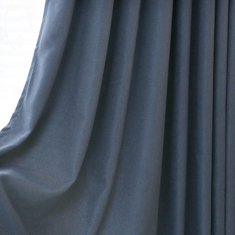 Subtle Spring Denim Navy Blue Curtain -  New 5