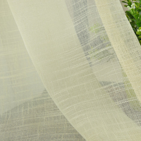 A touch of Sunshine Semi Sheer Lemon Yellow Voile Curtain 8