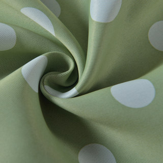 Classic Blackout Green Polka Dot Curtain 7