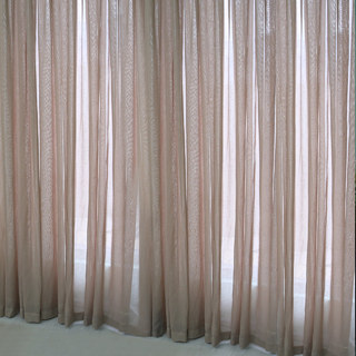Notting Hill Mocha Luxury Voile Curtain 1