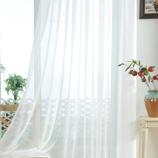 A touch of Sunshine Semi Sheer Ivory Voile Curtain 8