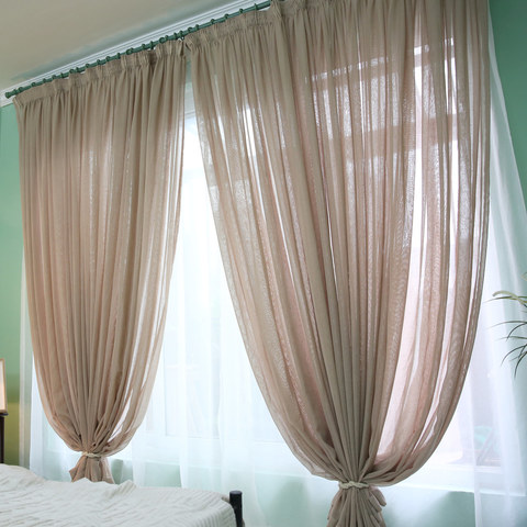 Notting Hill Mocha Luxury Voile Curtain 3