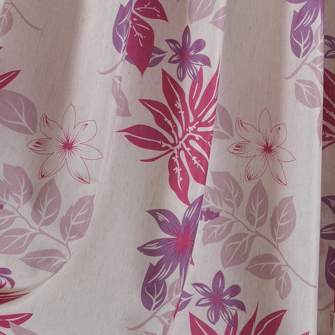 Tropical Leaves Purple Pink Roman Blind 2