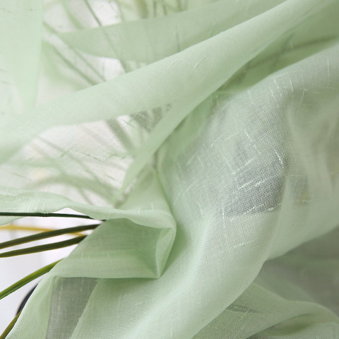 Notting Hill  Luxury Sage Green Voile Curtain 6
