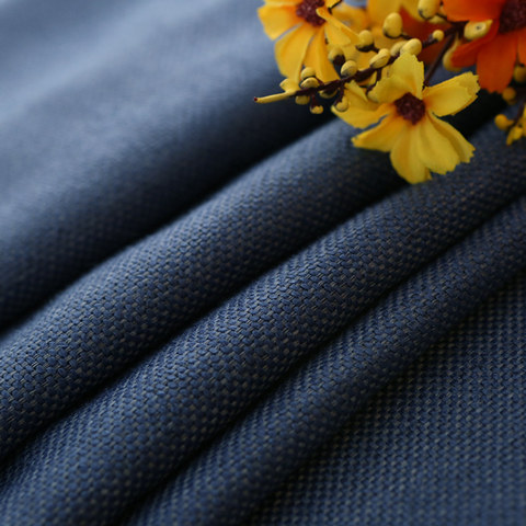 Subtle Spring Denim Navy Blue Curtain -  New 8