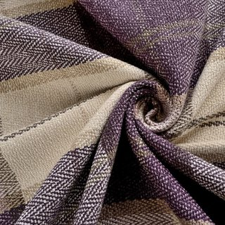 Cosy Plaid Check Light Purple Chenille Curtain 6