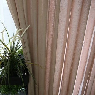 Notting Hill Mocha Luxury Voile Curtain 2