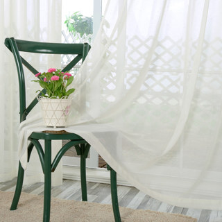 Notting Hill White Luxury Voile Curtain 3