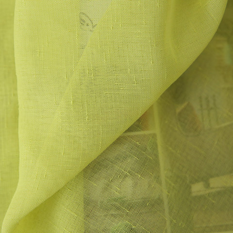Notting Hill Lime Green Luxury Voile Curtain 6