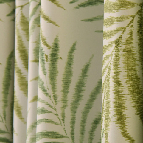 Palm Tree Leaves Green Roman Blind 1