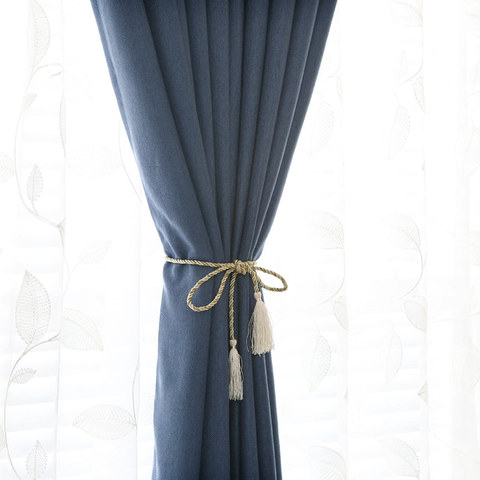 Subtle Spring Denim Navy Blue Curtain -  New 4